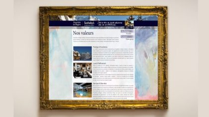Site web immobilier de luxe SEO