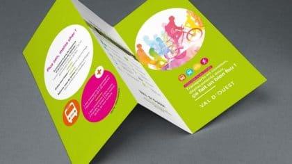 Flyer développement durable santé Rhône