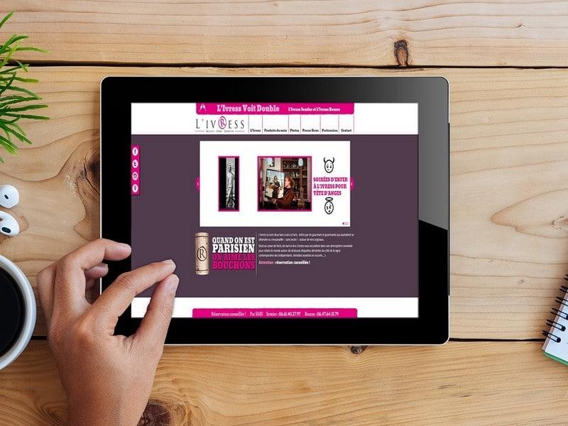 Site web bar à vin - Communication Paris